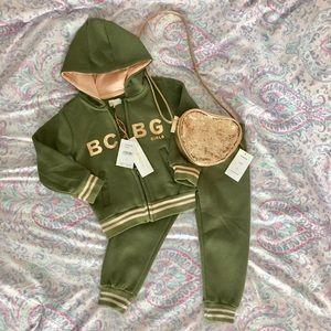 Toddler - NWT BCBG Girls Olive Sweatsuit (Sz 2T)